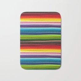 Indian Summer Colors Stripe Bath Mat