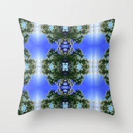 Hoola Tree Photography by Cecilia Lee Nature + Garbage Throw Pillow