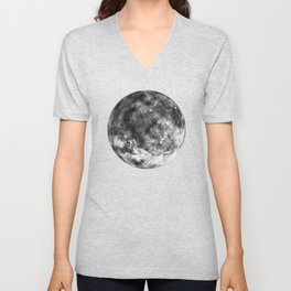 Isolated Moon Unisex V-Neck