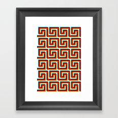 Pixel Wave Framed Art Print