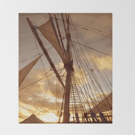 SAILS AT DUSK Throw Blanket