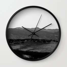 These Are The Vistas Wall Clock