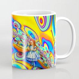 Alice in Fractal Land by Amanda Martinson Coffee Mug