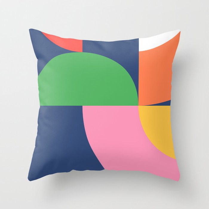 Abstract Geometric 16 Throw Pillow