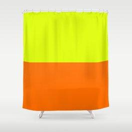 2-Tone Neon Shower Curtain