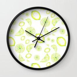 lemon rain, lemonade Wall Clock