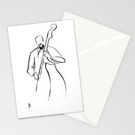 Jazz Contrabass Minimalism Stationery Cards