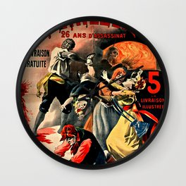 The Crimes of Peyrebeille (Bloody Hostel) Wall Clock