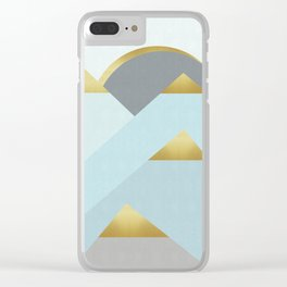 Forest with gold I Clear iPhone Case