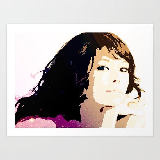 WOMAN AMONG THE STARS Art Print