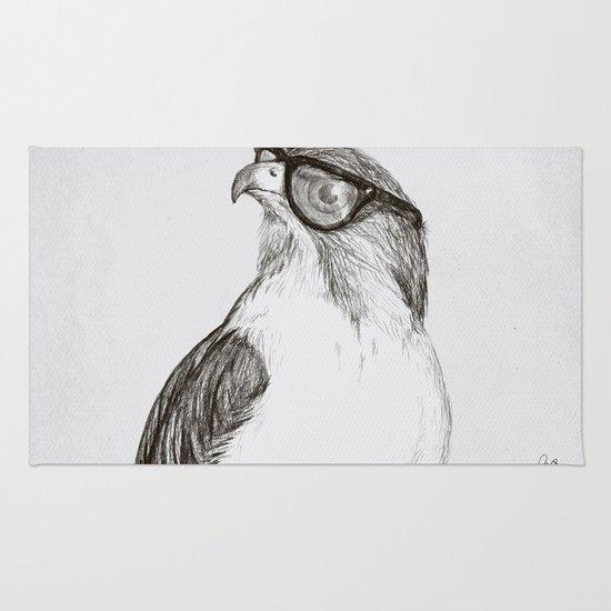 Hawk with Poor Eyesight Rug
