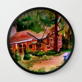 Little Log Cabin Wall Clock