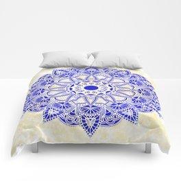 Blue Watercolor Mandala Comforters