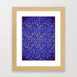Blue Sub-atomic Lattice Framed Art Print