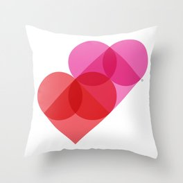 Geometric Love Throw Pillow