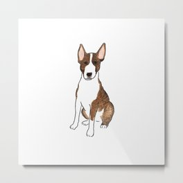 Bull Terrier Life - Watercolor Bull Terrier Metal Print