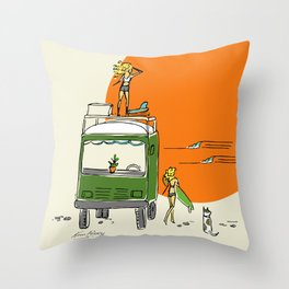 Green Native Adventure Throw Pillow