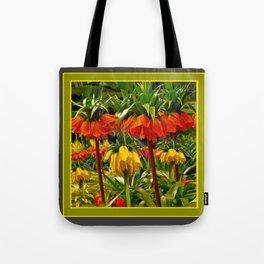 YELLOW & ORANGE CROWN IMPERIALS GARDEN Tote Bag