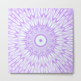 Lavender. Kaleidoscope Metal Print