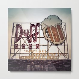 Duff Beer Neon Sign Metal Print