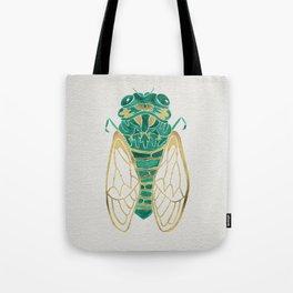 Cicada – Green & Gold Tote Bag