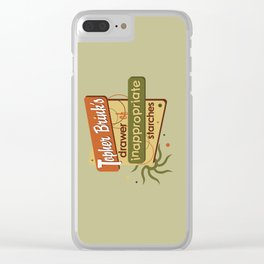 Inappropriate Starches Clear iPhone Case