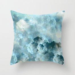 """Cotton clouds blue Heaven"" Throw Pillow"