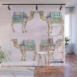 Boho Camel Tassel India Morocco Camel Watercolor Wall Mural