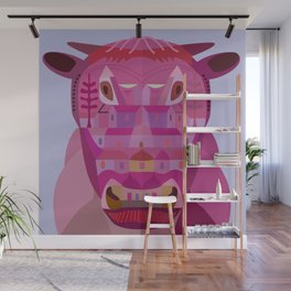 A Cow in Los Angeles Wall Mural