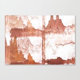 Sienna nebulous wash drawing Canvas Print