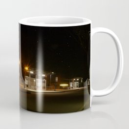 Train and Bus stop in Germany by night Coffee Mug