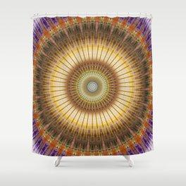 Mandala radiant power Shower Curtain