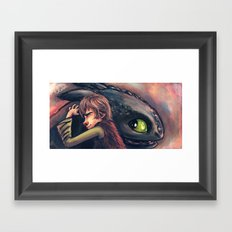Gift of the Night Fury Framed Art Print