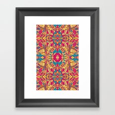Eye Of The Beast Pattern Framed Art Print