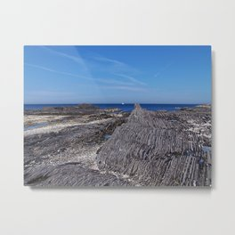 Rock Layers and the Sea Metal Print