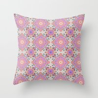 moroccan Throw Pillows featuring Faded Moroccan by k_c_s