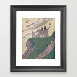 """I do not know what it is except that it is grand, and that it is happiness"" (Margaret C Cook, 1913) Framed Art Print"