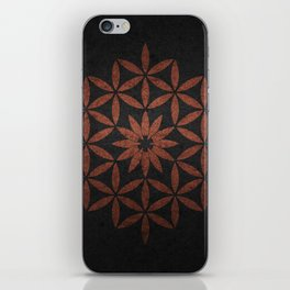 The Flower of Life - Ancient copper iPhone Skin