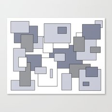 Squares - gray, purple and white. Canvas Print