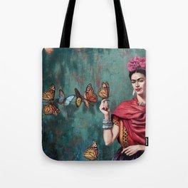 Frida Kahlo Butterfly Tote Bag