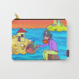 Pirate feeding his fish-home! Carry-All Pouch