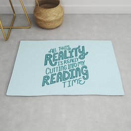 Reality Vs. Reading Blue Rug
