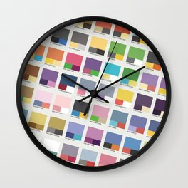 Poke-Pantone 4 (Sinnoh Region) Wall Clock