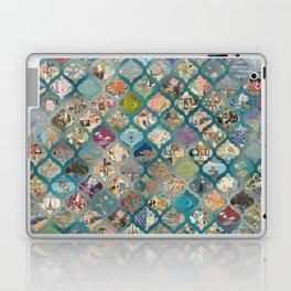 vintage Lanterns on bed of blues Laptop & iPad Skin