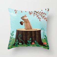 Woodland Friends - Chipmunk Throw Pillow