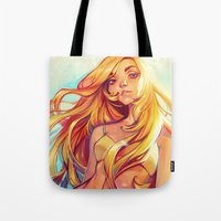 loish Tote Bags featuring Summer by loish