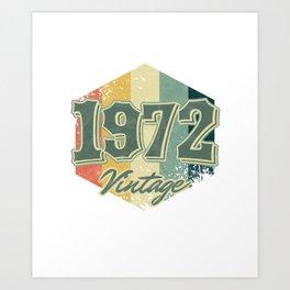 48 th Birthday Celebration Gift 1972 Vintage Retro Party Birth Anniversary Art Print