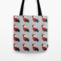stiles Tote Bags featuring STILES by oh, wolves