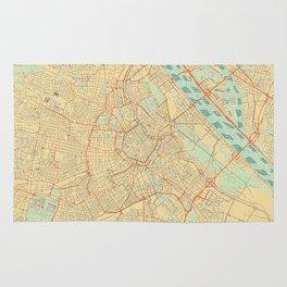 Vienna Map Retro Rug