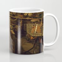 bicycles Mugs featuring Bicycles by Gurevich Fine Art